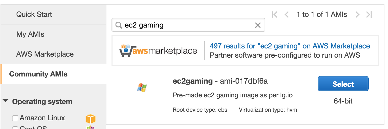 EC2gaming instance