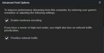 Server Steam Settings